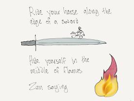 ride through flames